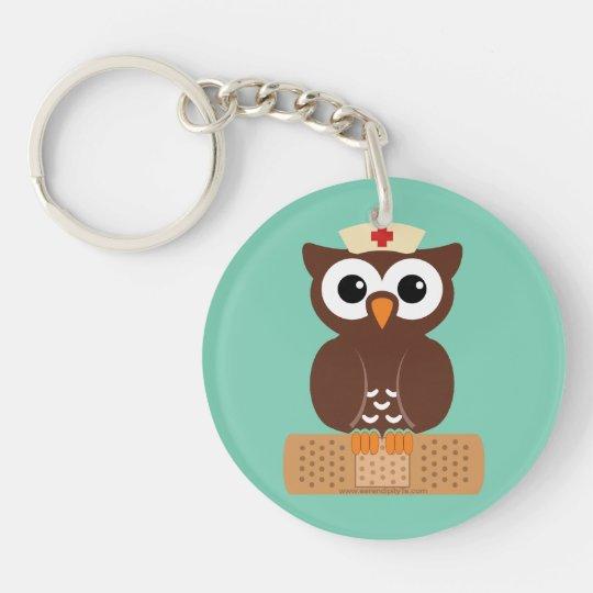Nurse Owl (w/bandaid) Keychain