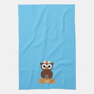 Nurse Owl (w/bandaid) Kitchen Towel