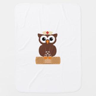 Nurse Owl (w/bandaid) Stroller Blanket