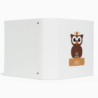Nurse Owl (w/bandaid) Vinyl Binder