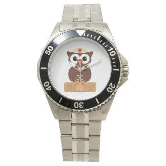 Nurse Owl (w/bandaid) Wrist Watch