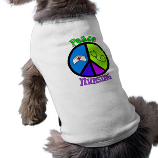 "Nurse ""Peace"" Gifts For All Professionals Pet T-shirt"