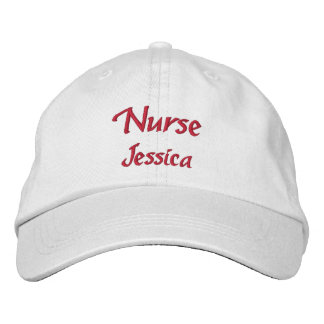 Nurse Personalized Embroidered Hat