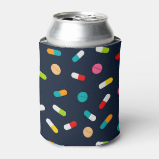 Nurse pill pattern Party favor can cooler