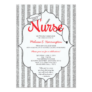 Nurse pinning, nurse party, RN graduation RED Card
