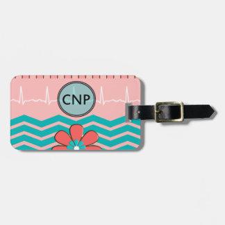 Nurse Practitioner Chevron Design Luggage Tag