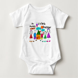 Nurse Practitioner Mommy Baby Bodysuit