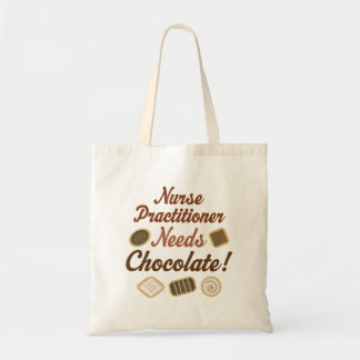 Nurse Practitioner Needs Chocolate Tote Bag