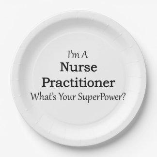 Nurse Practitioner Paper Plate