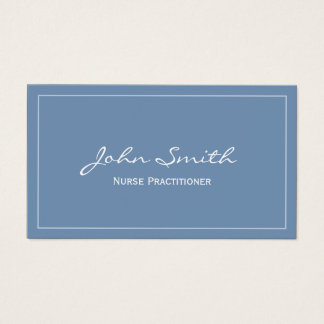 Nurse Practitioner Plain Blue Business Card