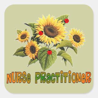 Nurse Practitioner Sunflower Design Gifts Square Sticker