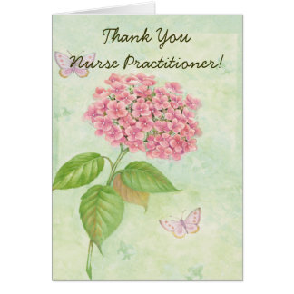 """Nurse Practitioner """"Thank You Card"""" Card"""