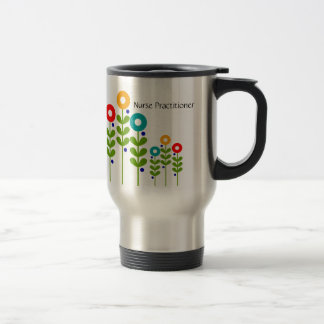 Nurse Practitioner Travel Mug Floral