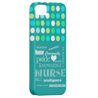 Nurse Pride-Attributes/Turquoise Blue/Polkadots iPhone 5 Case