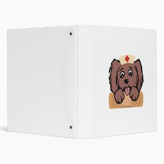 Nurse Pup Vinyl Binder