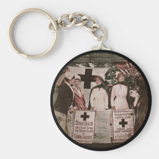 Nurse Recruitment Station WWI Basic Round Button Keychain