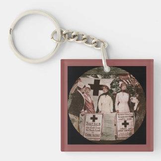 Nurse Recruitment Station WWI Single-Sided Square Acrylic Keychain