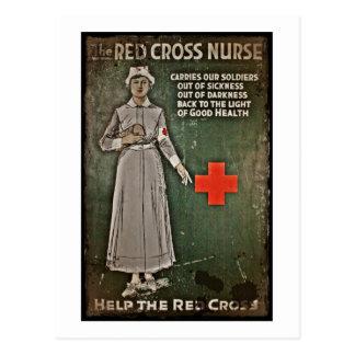 Nurse Requesting Donations WWI Postcard