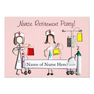 Nurse Retirement Party Invitations Pink Hospital