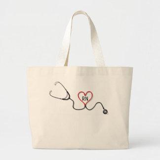 Nurse RN Large Tote Bag