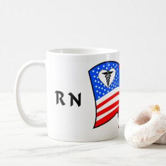 Nurse RN USA Pride Coffee Mug