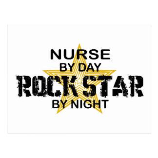 Nurse Rock Star by Night Postcard