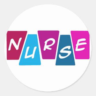 Nurse Round Sticker