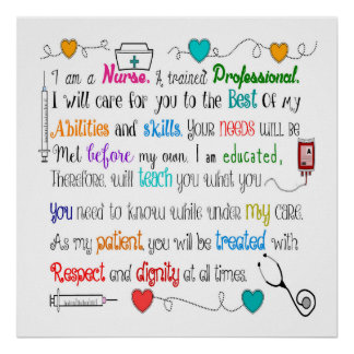 Nurse Sayings Poster 24x24