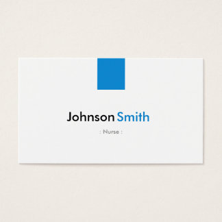 Nurse - Simple Aqua Blue Business Card