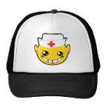 nurse smiley face mesh hats
