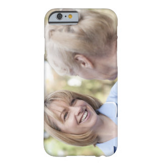 Nurse smiling and talking to a senior woman barely there iPhone 6 case