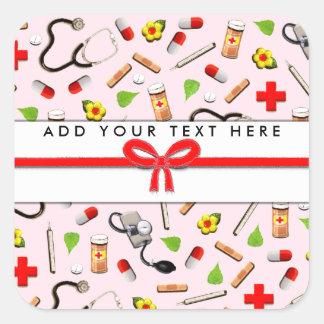 Nurse Square Sticker