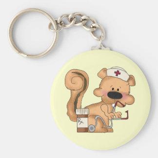 Nurse Squirrel keychain