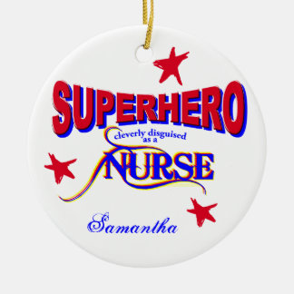 Nurse Superhero Ornament