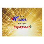 Nurse Superhero Poster