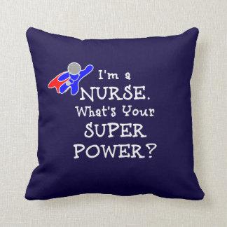 Nurse Superhero (white text) Throw Pillow