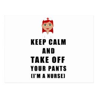 nurse, take off your pants postcard