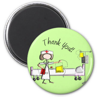 """Nurse """"Thank You"""" Gifts 2 Inch Round Magnet"""