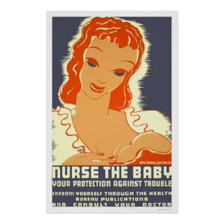 Nurse The Baby 1938 WPA Poster