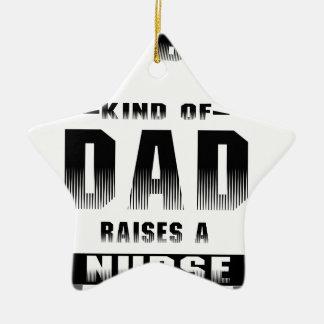 Nurse, the best kind of dad ceramic ornament