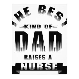 Nurse, the best kind of dad custom letterhead