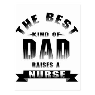 Nurse, the best kind of dad postcard
