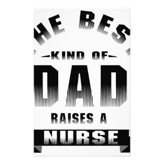 Nurse, the best kind of dad stationery paper