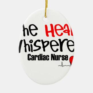 Nurse the heart whisperer ceramic oval ornament