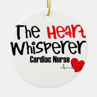 Nurse the heart whisperer round ceramic ornament