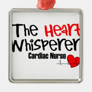 Nurse the heart whisperer Silver-Colored square ornament