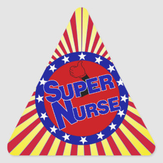 NURSE THUMBS UP SUPER NURSE PATRIOTIC TRIANGLE STICKER