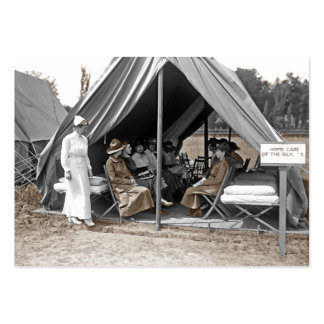 Nurse Trainees Sitting in a Tent Pack Of Chubby Business Cards