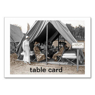Nurse Trainees Sitting in a Tent Table Cards