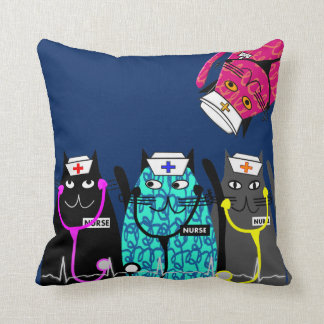 Nurse Whimsical Cat Pillow #15